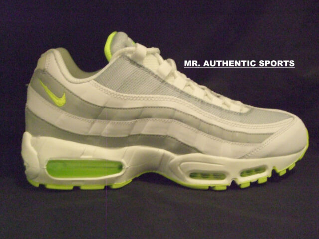 new concept 36bf8 53a45 Nike Air Max 95 Premium White Volt Grey Size 10 609048-138