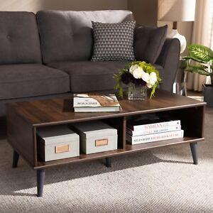 Image Is Loading Mid Century Coffee Table Walnut Modern Home Decor