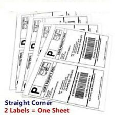300-8.5x5.5 Shipping Mailing Labels Half Sheet Self Adhesive for UPS,FEDEX&USPS