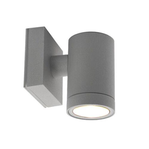 LED Wandleuchte grau Innenleuchte Außenleuchte Wandlampe GU10 230V