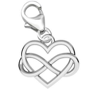 Charm mit Herz Anhänger für Bettelarmband Armband 925 er Echt Sterling Silber