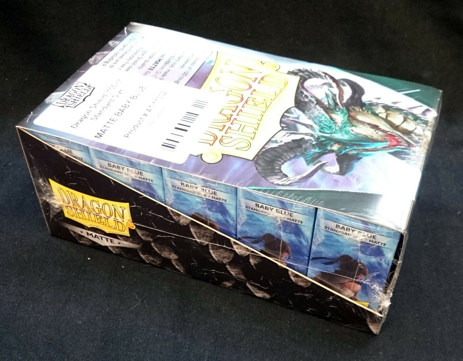 10x drake Shield Matte ståard -Storlek Slieves bebis blå låda BRAND NY