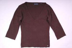 Marc-O-Polo-Damen-Bluse-Sweatshirt-Longsleeve-Dreiviertelarm-Braun-Groesse-S