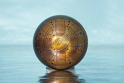 "Tank Drum Kosmosky  9/"" KSY-180 /""Mirror spiral/"" D minor pentatonic 22 cm"