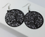 Round Hollow Tree Pattern Earrings Scrub Three Color Dangle Women Jewelry Gift