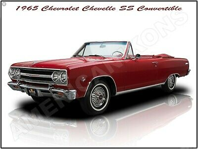 1965 Chevrolet Chevelle Malibu SS New Metal Sign Pristine Restoration
