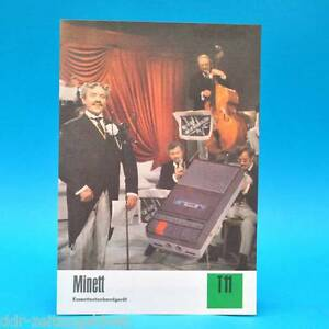 Minett-Kassettentonbandgeraet-DDR-1974-Prospekt-Werbung-Werbeblatt-DEWAG-T11-C