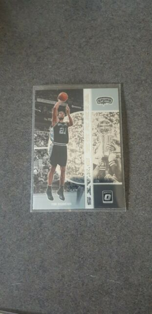 "Tim Duncan ""Winner Stays"" Insert 2019-20 NBA Donruss Optic Card"