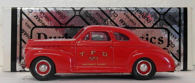 Durham, maßstab 1  43 die 32 - 1941 chevrolet coupé tGoldnto feuerwehr - auto