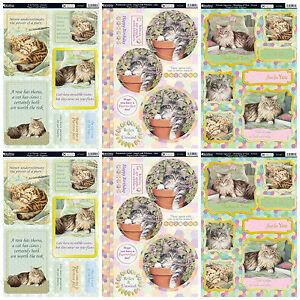 Kanban card kit Feline friends cute cats, die cut paper craft toppers cardmaking 5060160263177