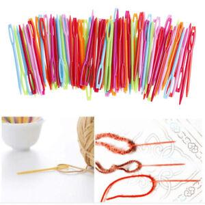 Durable-7cm-Plastic-Knitting-Needles-Crochet-Hooks-Tapestry-Wool-Yarn-NeedlQ6Q