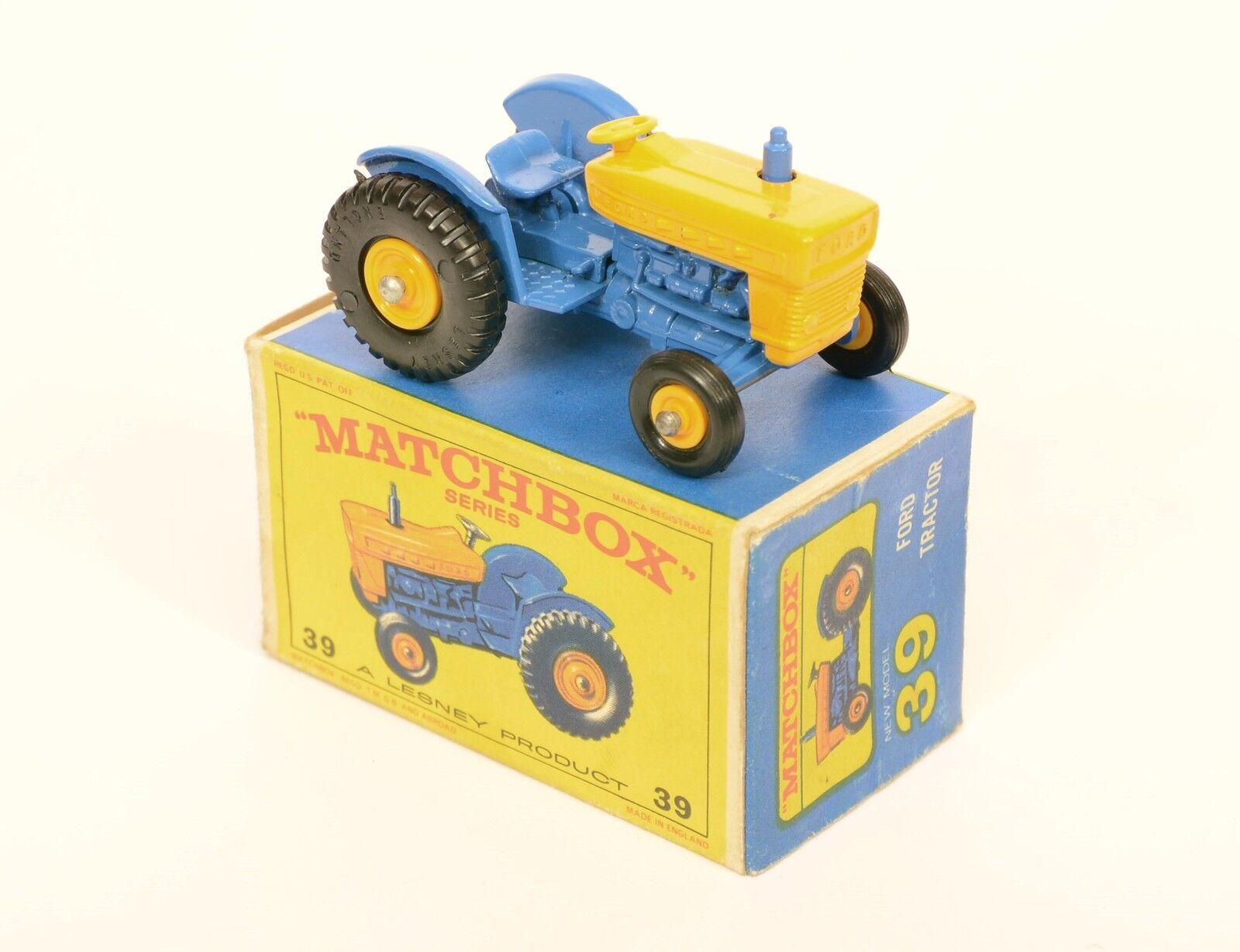Matchbox 39 c ford traktor  gelb lenkrad  selten wirklich ausgezeichnete boxen