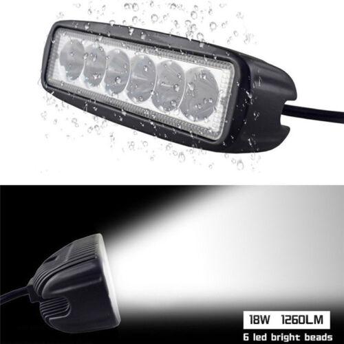 18W 6000K LED Work Light Bar Driving Lamp Fog Off Road SUV Car Boat Truck VQ