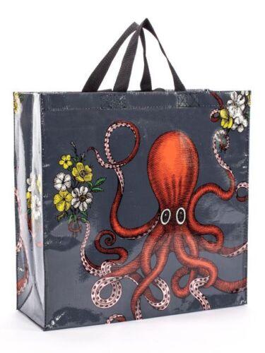 Tasche Shopper Shoulder Bag Umhängetasche Octopus 40x40 cm Blue Q Recycelt