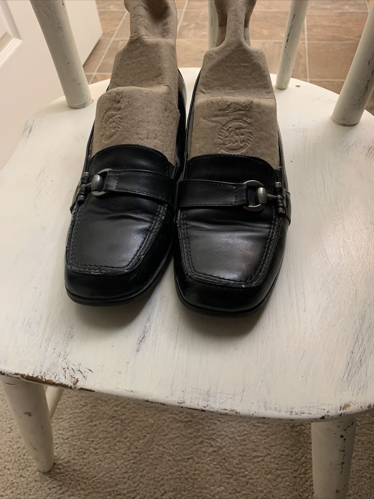 life stride shoes size 7 Black Man made Materials, Low Heel Dk Silver Adornments