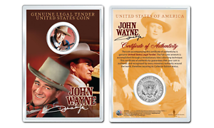 Coin in PREMIUM HOLDER Rio Bravo OFFICIAL JFK Half Dollar U.S JOHN WAYNE