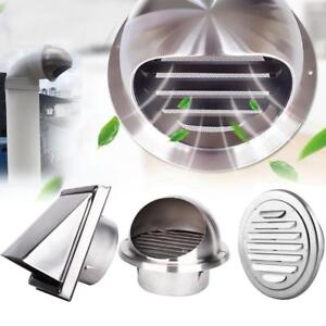 Stainless-Steel-Wall-Air-Vent-Ducting-Ventilation-Exhaust-Grille-Cover-Outlet-HG
