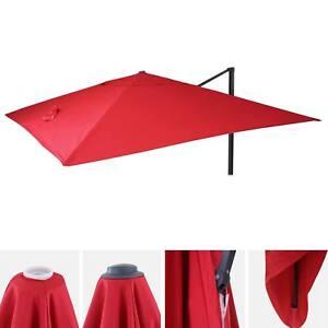 Détails Sur Housse De Rechange Pour Parasol Déporté Hwc 3 X 4 M Rouge