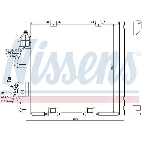 Vauxhall Opel Klimakühler NissensKondensator Klimaanlage 94624