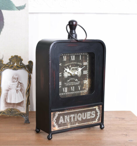 RETRO VINTAGE METAL TABLE CLOCK CLOCK NOSTALGIA MANTEL CLOCK