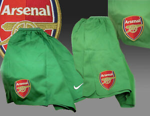 New-NIKE-ARSENAL-Football-Shorts-Player-Issue-Goalkeeper-Mens-Youth-Small-30-034