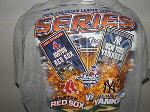 MLB 2004 ALCS Boston Red Sox vs New York Yankees AL Logo T