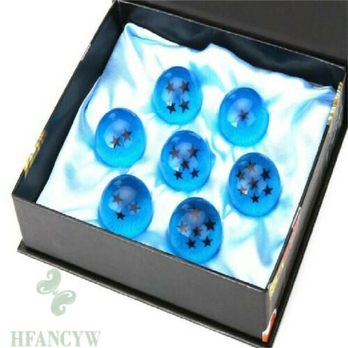 7pcs Anime DragonBall Z Stars Crystal blue Ball Collection Set Gift Classic