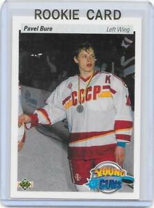 1990-91-UD-Upper-Deck-hockey-Pavel-Bure-Young-Guns-RC-rookie-card-MINT-CANUCKS