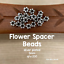 3mm Bali Style Daisy Spacers Silver Plated Silver Beads 200 Pieces