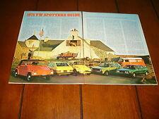 1975 VW VOLKSWAGEN   ***ORIGINAL ARTICLE***