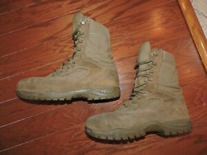 U S MILITARY BELLEVILLE C312ST HOT WEATHER STEEL TOE COMBAT BOOTS MENS 11 R ARMY