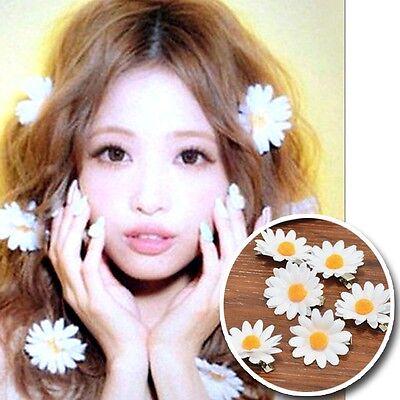 Girls Lolita Flower Daisy Hair Clip Bellis Hairpin Harajuku Hair Decoration 1pcs