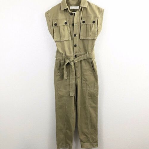 Happy X Nature Green Belted Jumpsuit Boilersuit Co