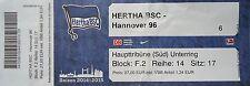 TICKET 2014/15 Hertha BSC Berlin - Hannover 96