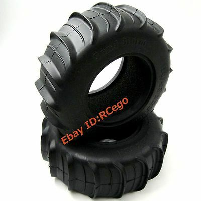 2pcs RC 1//10 Crawler 2.2 Paddle Sand Storm Tires Soft 114mm fit 2.2in wheel rims