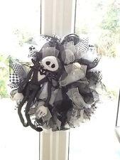 Large Nightmare Before Christmas Halloween Wreath Black & White Jack Skellington