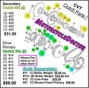 Details about Clutch Kit,#1,CVT,Primary,Pulley,Belt  Clutch,UTV,700,MSU,500,HiSUN,MASSIMO,TSC