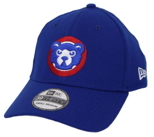 "MLB Cap Light Royal New Era 39Thirty Chicago Cubs GAME /""Team Classic/"" Hat"