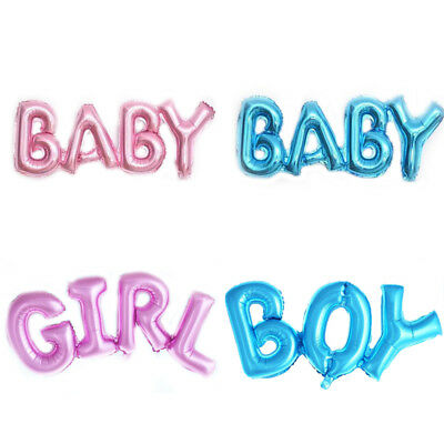 Baby Boy Girl Letter Foil Helium Balloons Pink Blue Baby Shower Birthday Party D