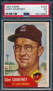 1953-Topps-Set-Break-127-Clint-Courtney-PSA-5-OBGcards