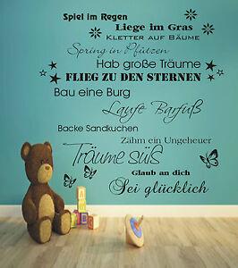 Wandtattoo-Sterne-Schmetterlinge-Blumen-Traeume-Wuensche-Kinderzimmer-Kinder