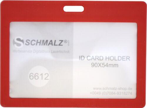 10 STÜCK  Ausweishülle Kartenhalter Ausweishalter aus Hartplastik Werksausweis