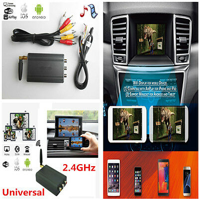 Miracast Airplay Android IOS WiFi Mirror Link Smartphone Screen//Video Car Home