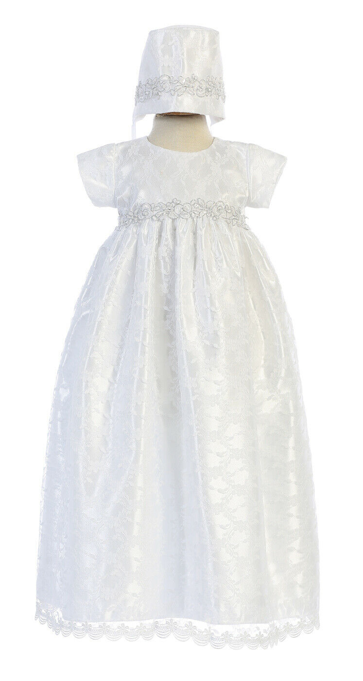 Moon Kittty Baby Lace Special Occation Dresses Christening Baptism Gowns Formal Dress Cream White
