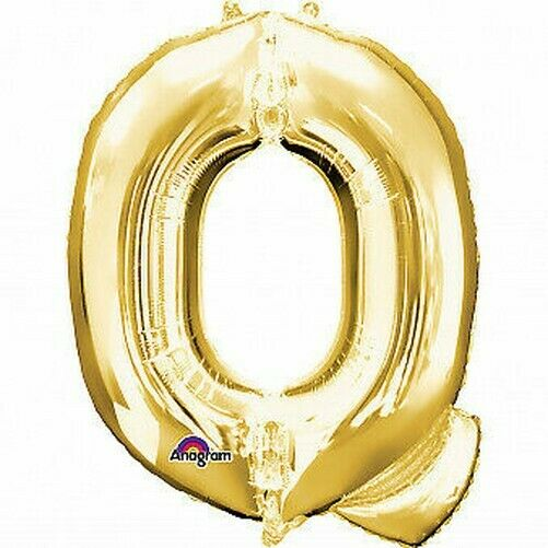 "Letter 'Q' Gold 16"" Minishape Air Fill Foil Balloon"