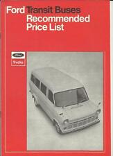 FORD TRANSIT PRICE LIST SALES BROCHURE AUGUST 1970