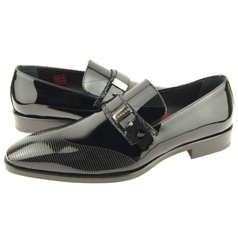 Lorens  Eloy  Formal Mocasines, Hombre sin Cordones Vestido Zapatos de Cuero ,