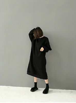 Women Loose Long Sweatshirt Pullover Dress Casual Baggy Top Jumper Oversized New