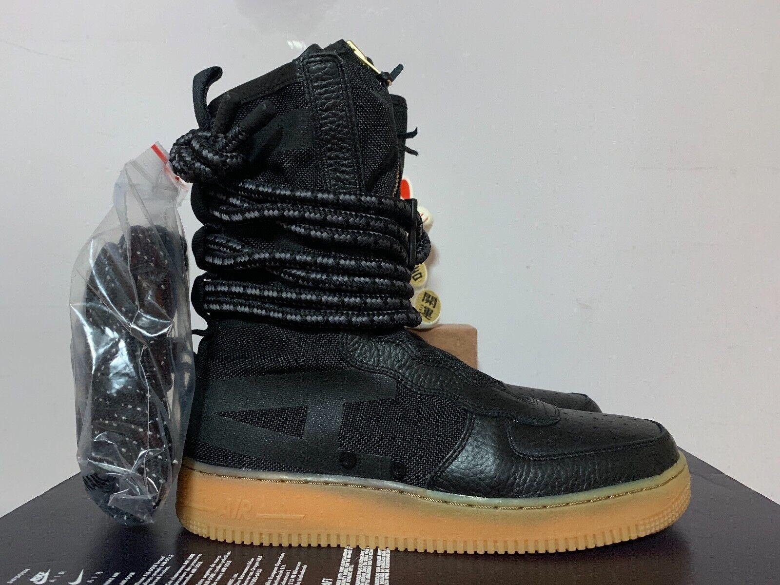 Nike SF AF1 Hi Special Field Air Force Black Gum Brown New 9.5 [AA1128-001]