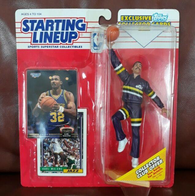 1993 KARL MALONE Utah Jazz NM- warm up sweats HOF Starting Lineup + Stadium Club